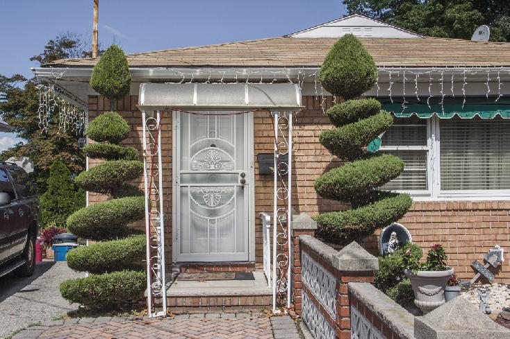 Entrance with Spiral Trees, Staten Island by Edward Coppola