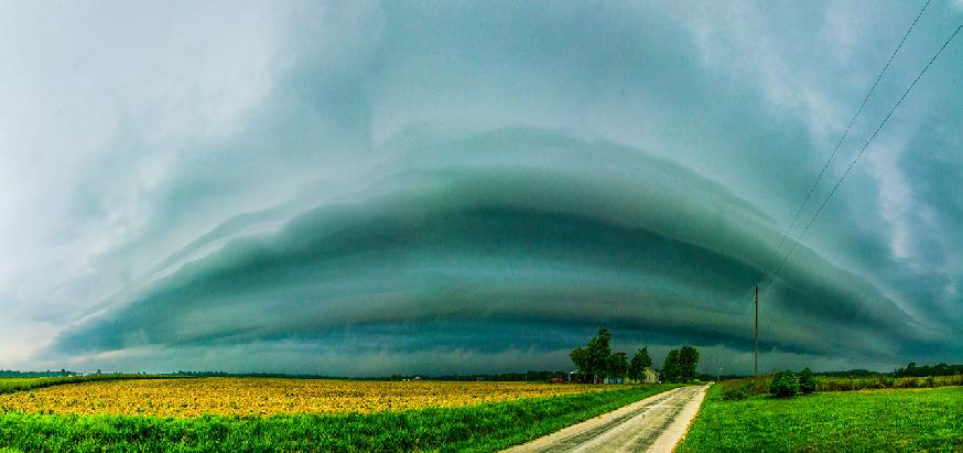 Sunday Storm in Woodstock by Mark Allen Dierker