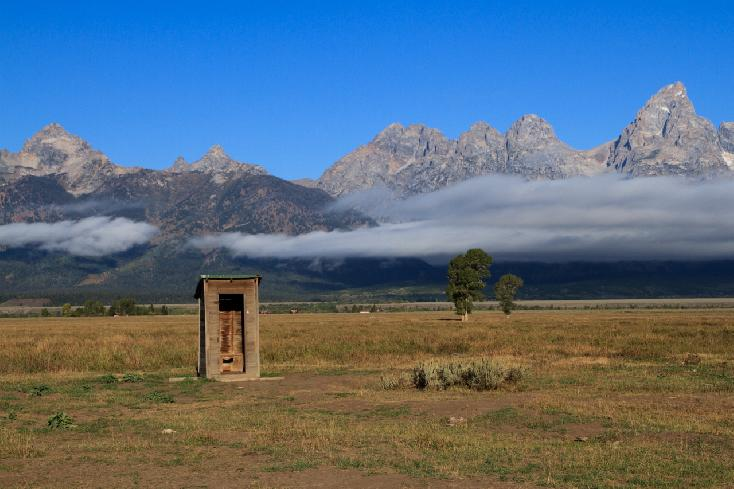 Mormon Row Outhouse by Steven Winker