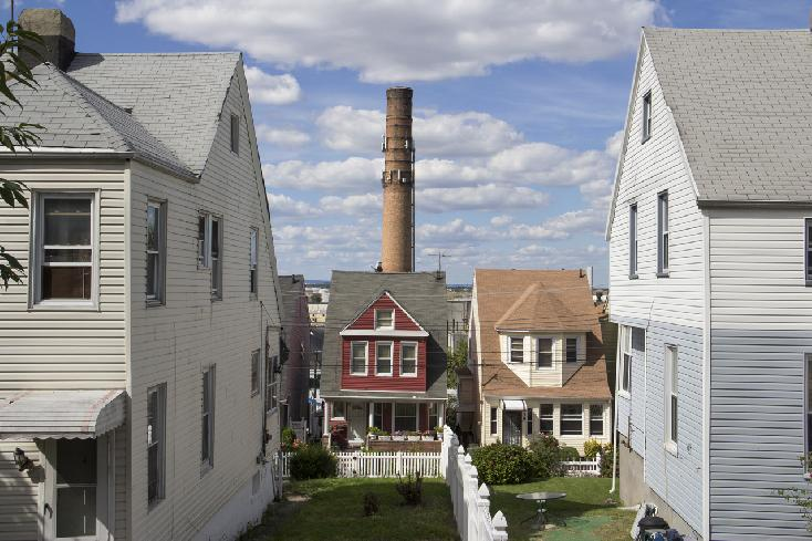 Smokestack/Cell Tower, Staten Island, 2012 by Edward Coppola