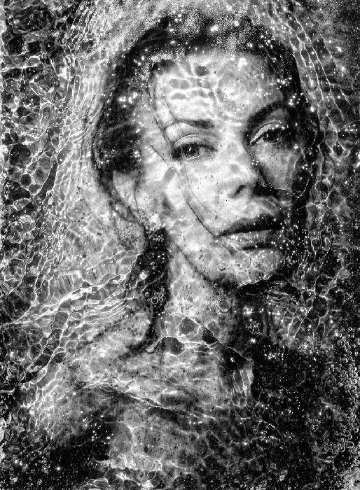 Water Portrait - Barbara by Russ Rowland