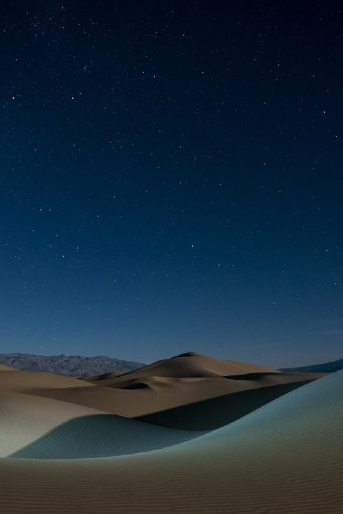Moonrise Over Mesquite Sand Dunes by Wendi Kennedy